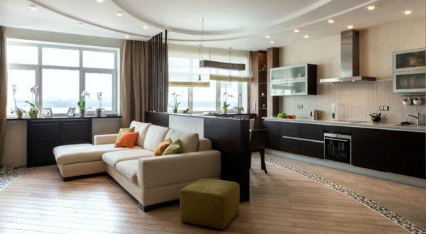 Идеи дизайна кухни-гостиной 14 кв. м