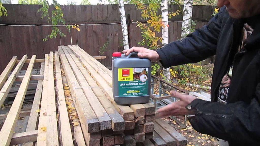 защита древесины от гниения и влаги
