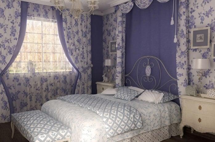 Шторы в стиле прованс римские и рулонные короткие в клетку на карнизе в гостиной и на кухне в загородном доме, льняные занавески с ламбрекеном в цветочек