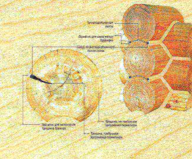Герметик акриловый для заделки швов и трещин деревянного дома