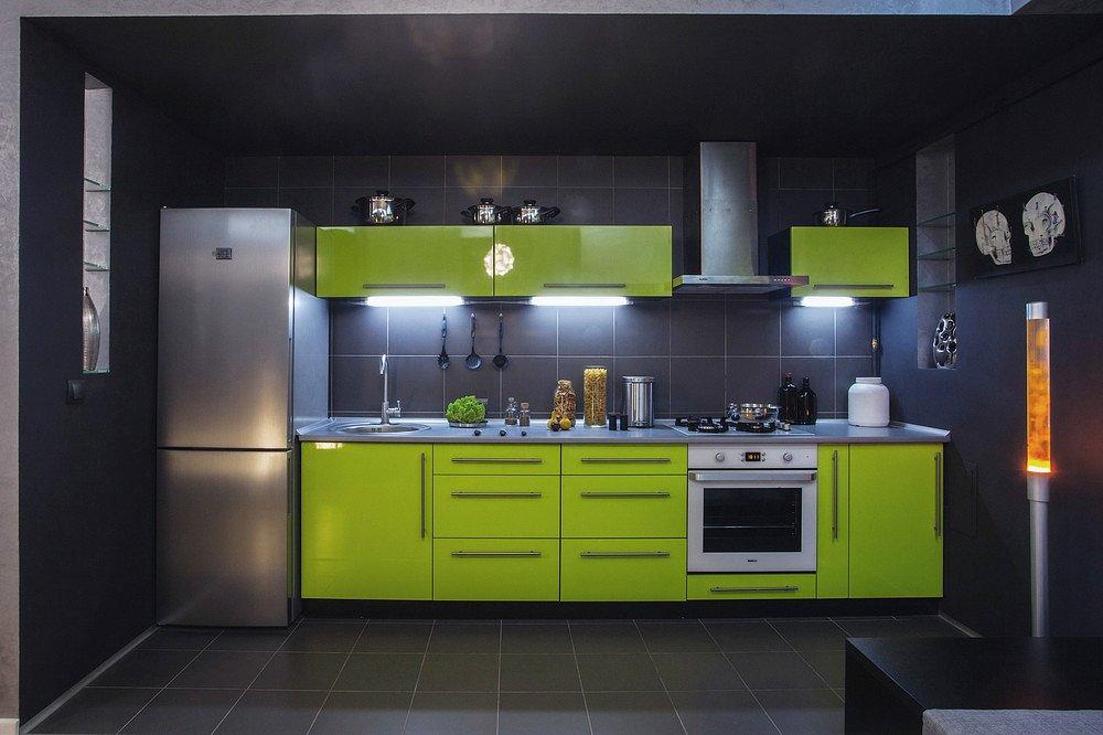 Прямая кухня: 70+ реальных фото примеров интерьера кухни