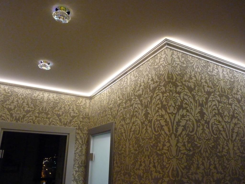 Парящий натяжной потолок с подсветкой: выбор профиля и монтаж своими руками