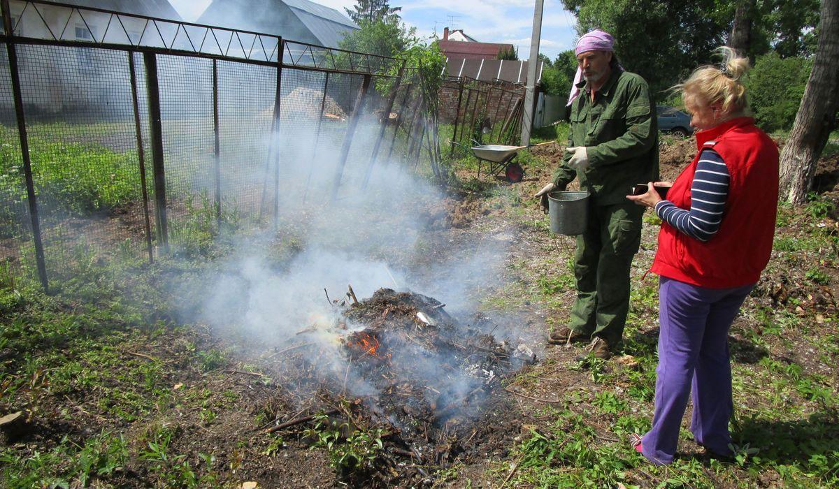 Как правильно сжигать мусор на своем участке по закону