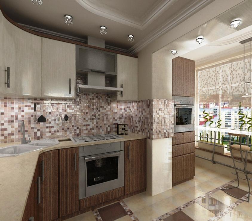 Кухня на балконе - дизайн (20 фото)