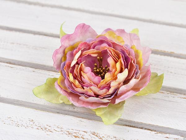 маленькие цветочки из гофрированной бумаги