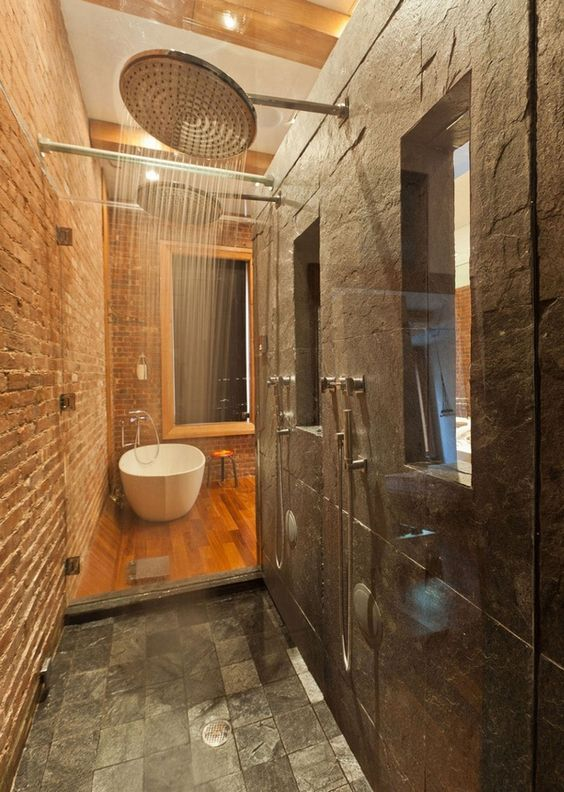 Ванная встиле лофт— особенности дизайна и30 фото