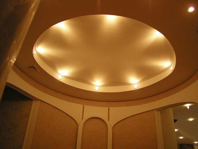 Фигурные потолки из гипсокартона - инструкция, фото