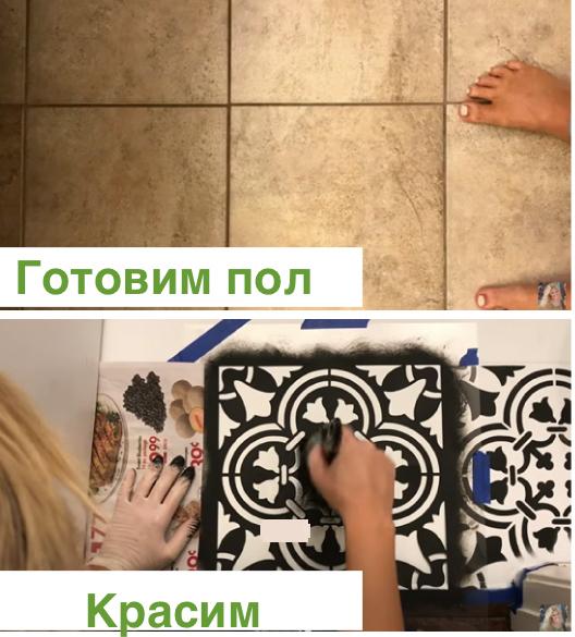 Как покрасить плитку на кухне: своими руками