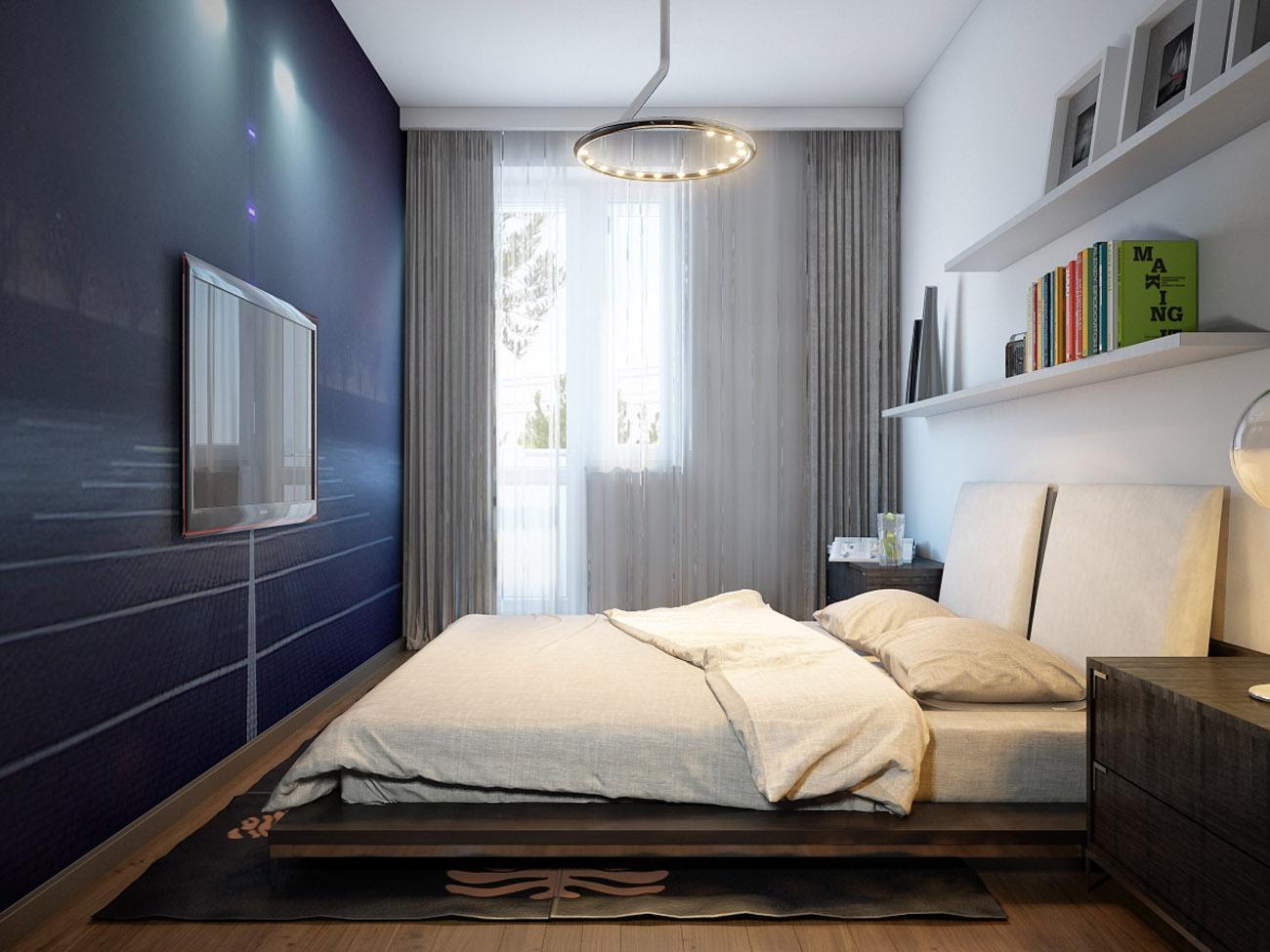 дизайн спальни 13 кв м