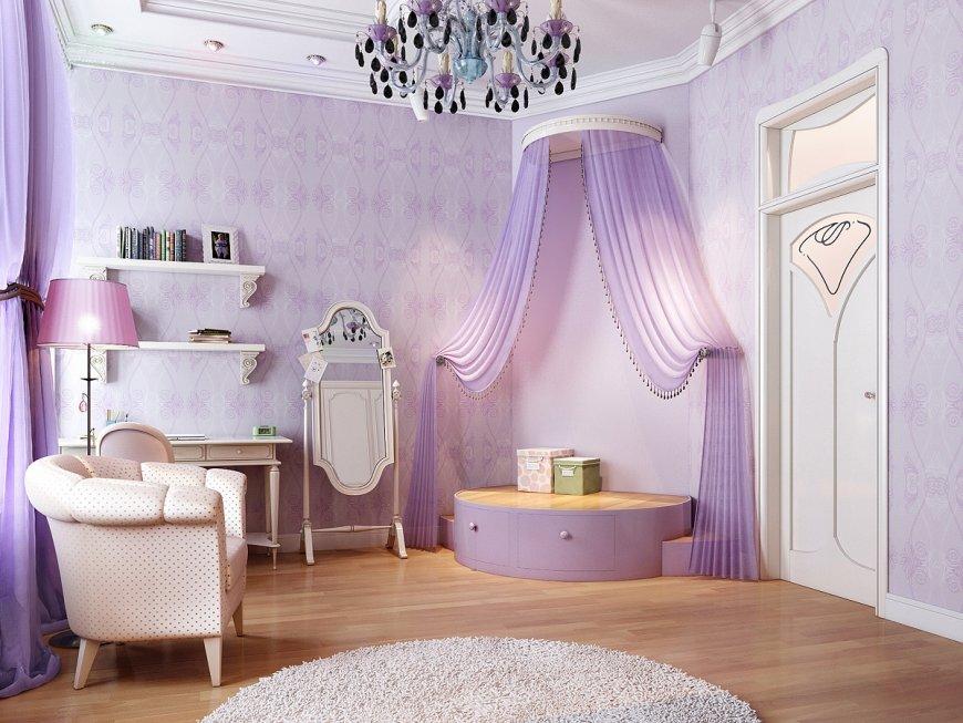 Как можно сочетать сиреневые оттенки с другими цветами в интерьере комнат