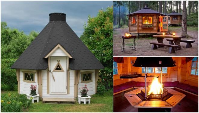 Гриль-домик (51 фото): беседка с мангалом или барбекю, финские постройки своими руками - чертежи с баней и очагом на даче