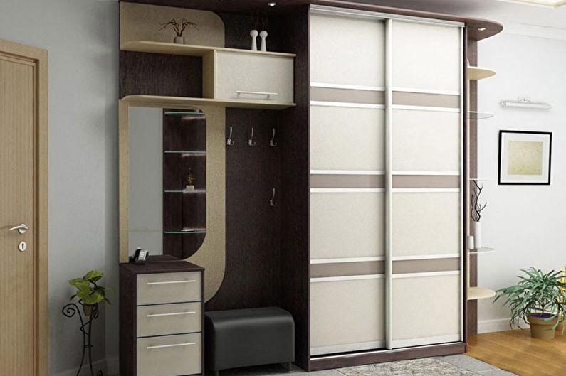 шкаф купе в прихожую современный дизайн