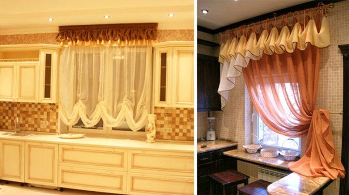 как повесить шторы на кухне