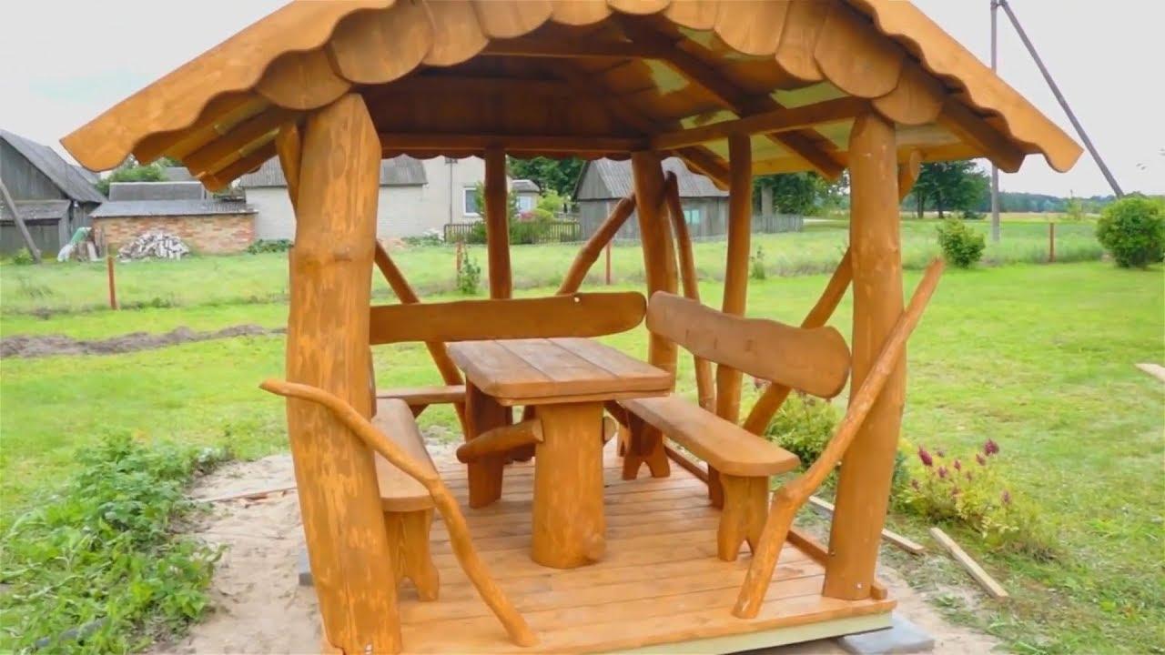 Беседки из дерева — идеи дизайна и инструкция по постройке своими руками из разных материалов (140 фото)