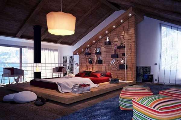 Как выглядит спальня на мансарде: фото эксклюзивных концепций