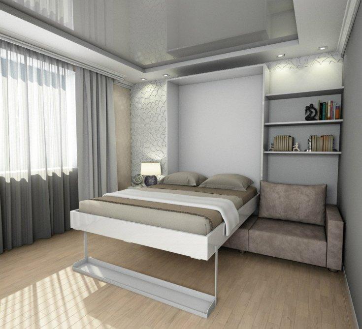 Оформление окна в спальне (67 фото): как оформить большие панорамные окна в пол? дизайн угловых оконных конструкций в интерьере комнаты прямоугольной формы