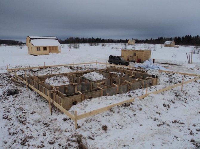 нужно ли закрывать фундамент на зиму