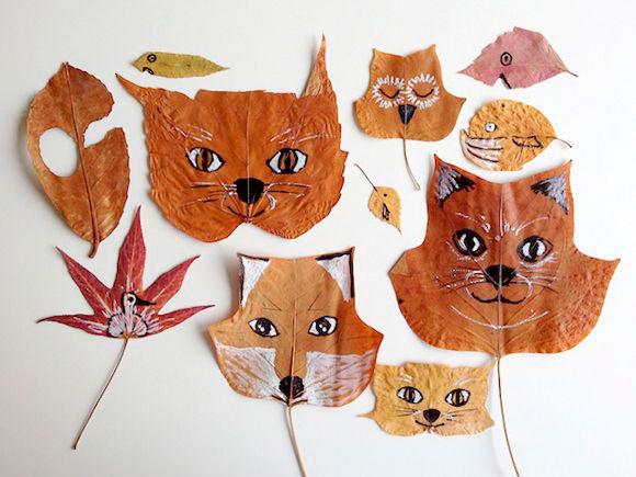 Поделки из сухих листьев: 44 увлекательные фото идеи