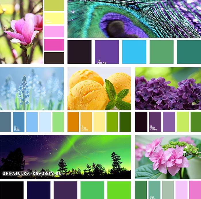 ярко зеленый цвет