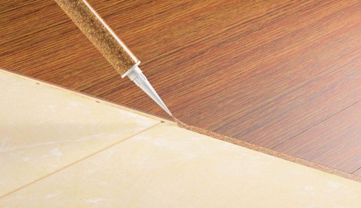 жидкая пробка для стыков ламината