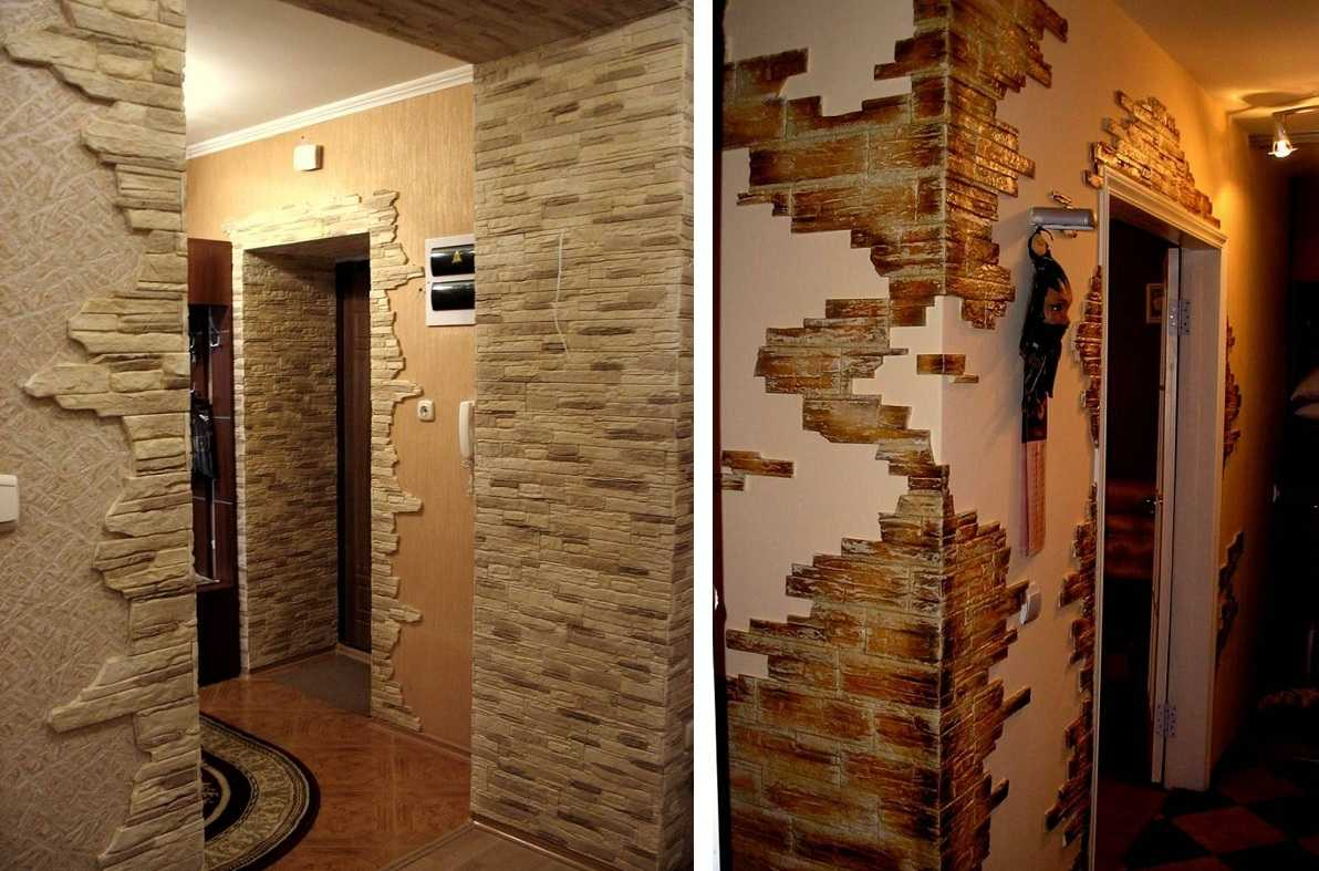 стены в прихожей варианты отделки фото