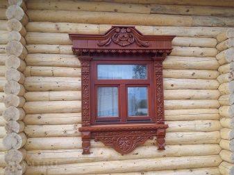 обналичники на окна в деревянном доме