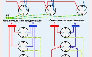 Подключение розеток параллельно или последовательно - всё о электрике в доме