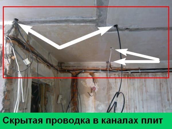 Как монтировать скрытую электропроводку?