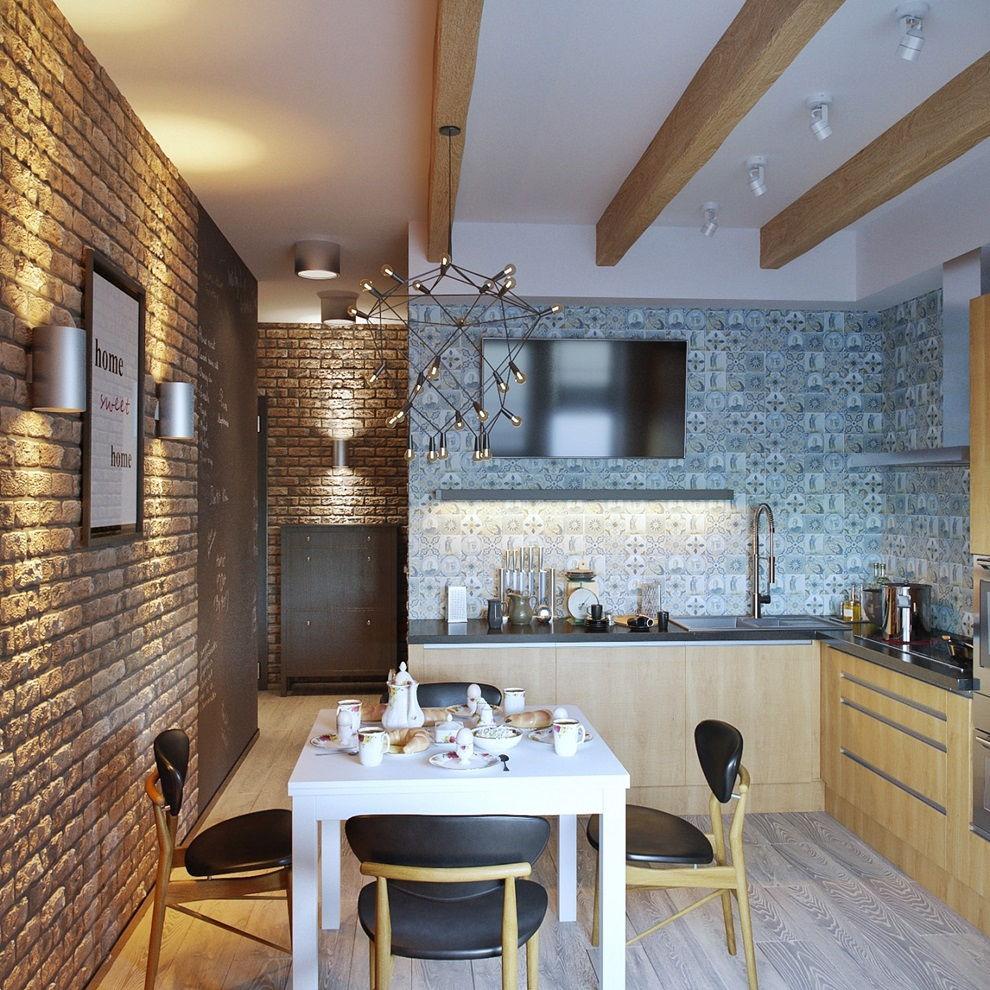 кухни лофт фото