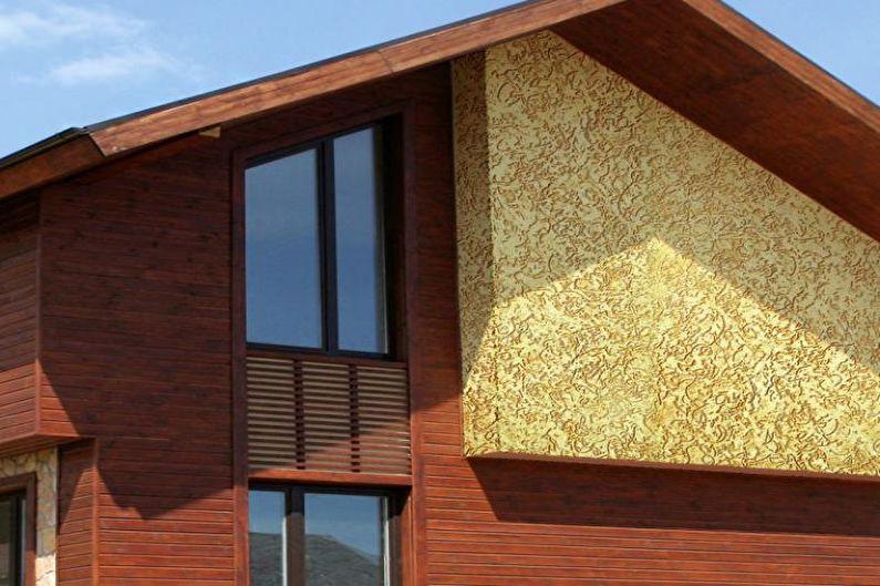 Отделка фасада короедом +75 фото примеров отделки фасада дома