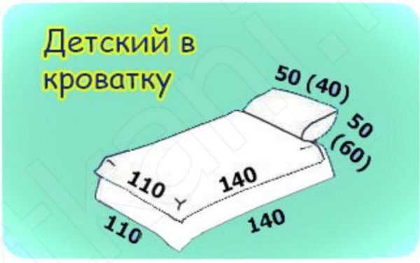 Размеры одеял: современный стандарт, таблица