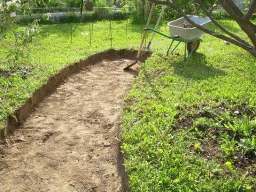 Дорожки в саду из бетонных плит своими руками