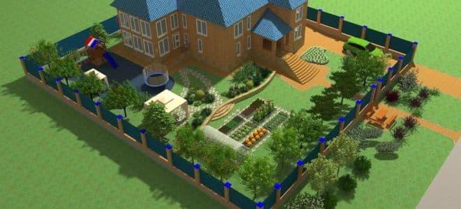 Участок 10 соток - идеи и варианты обустройства загородного дома стильно и креативно (105 фото)
