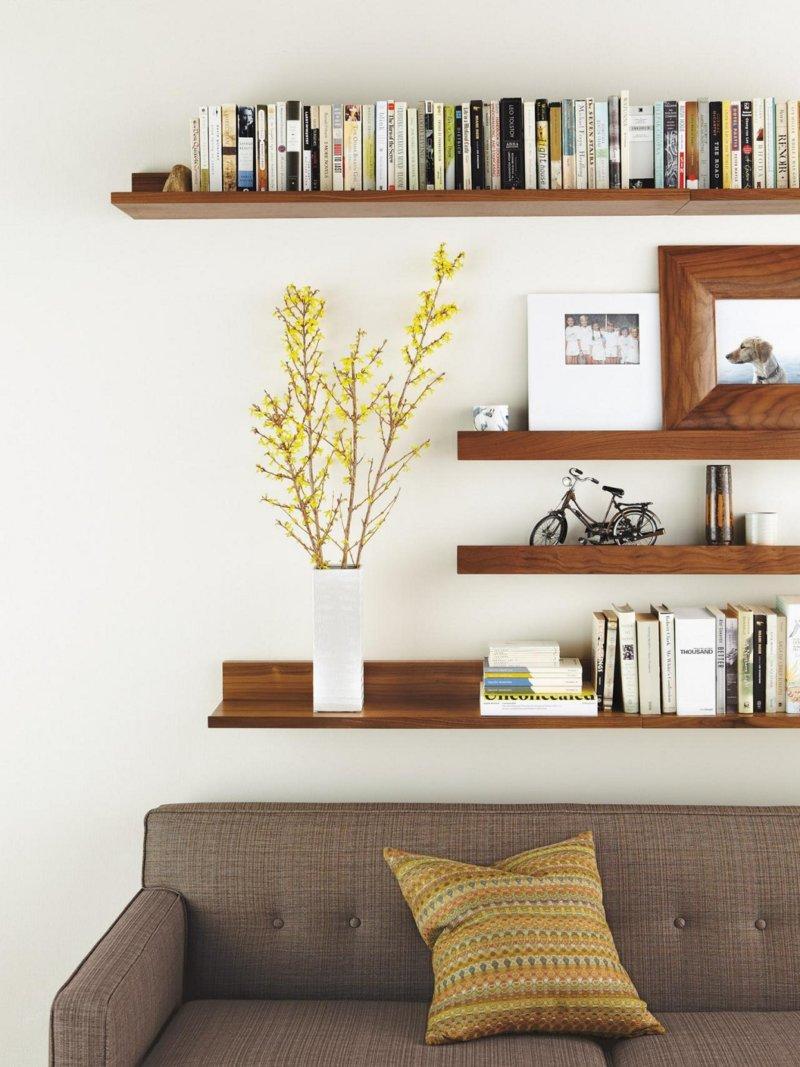 Выбираем стеллажи в гостиную: советы и идеи