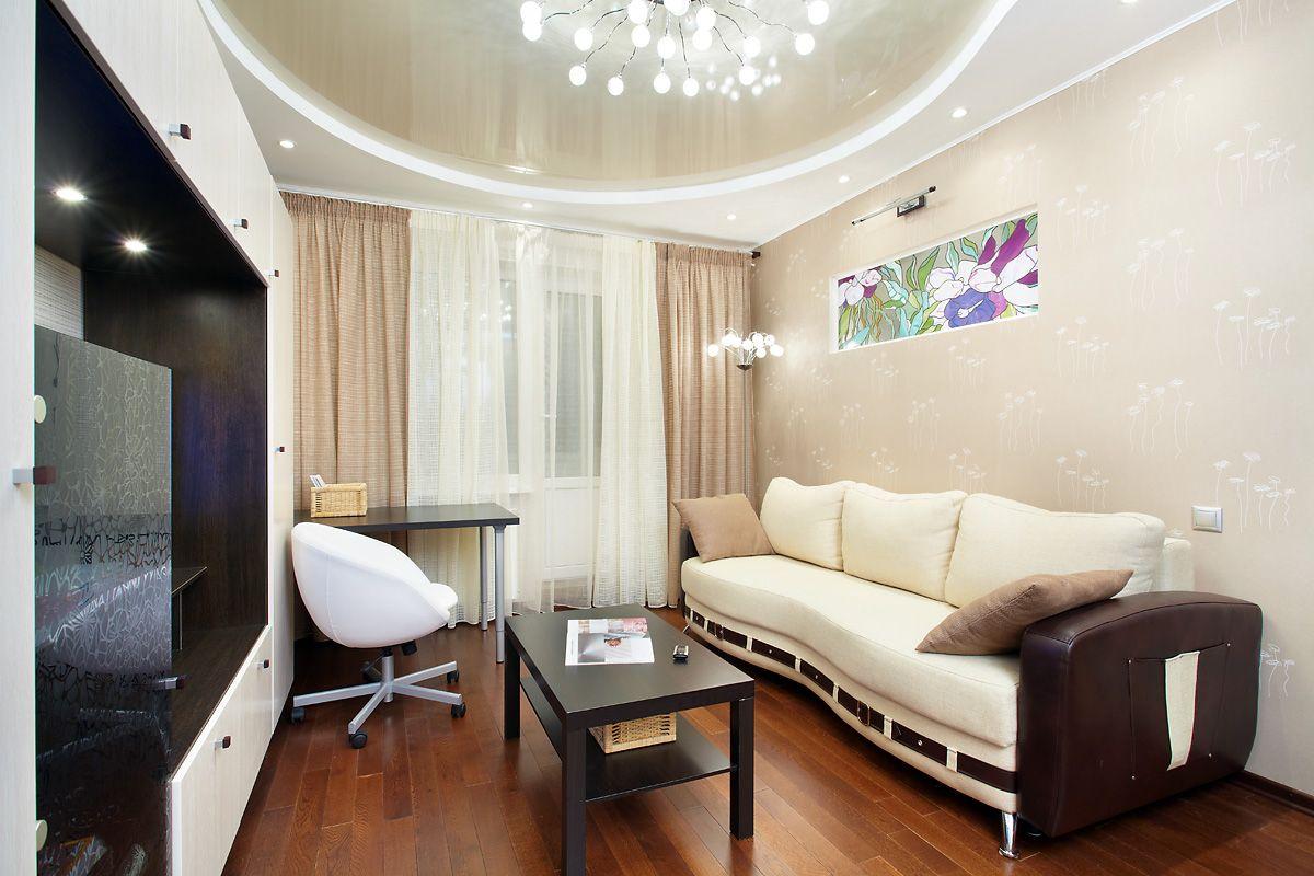 Двухуровневые потолки: натяжные, из гипсокартона +100 фото видов