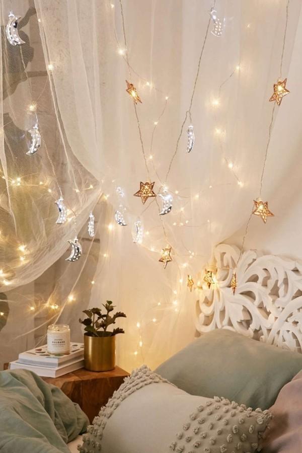 55 красивых идей украшения комнаты гирляндами. красивые интерьеры и дизайн