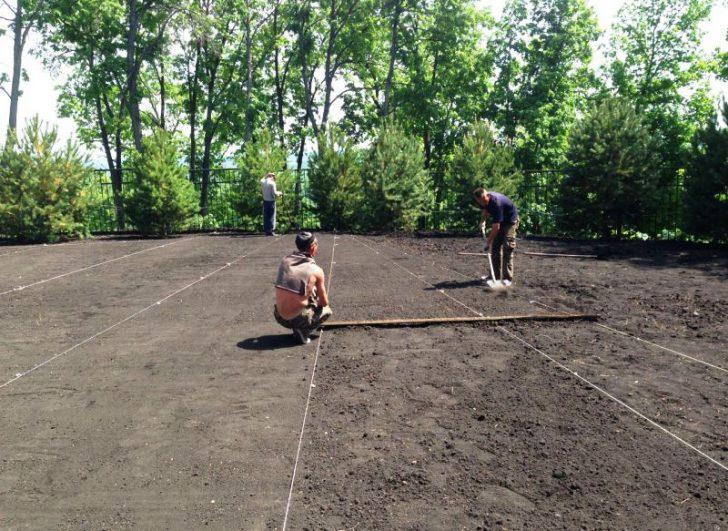 Как правильно выровнять участок на даче, в том числе под газон