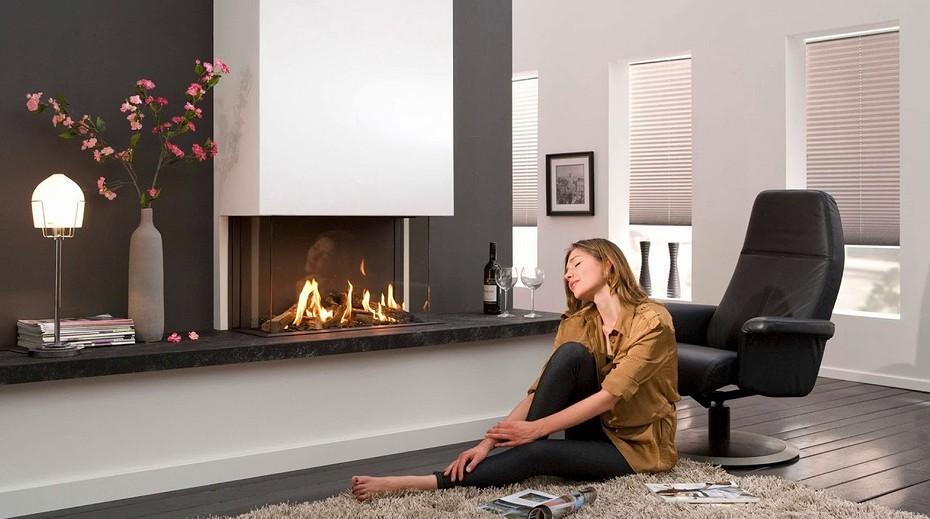 Встроенный камин (60 фото): встраиваемый в стену и мебель, мебельная стенка в интерьере, эл. камины в шкаф