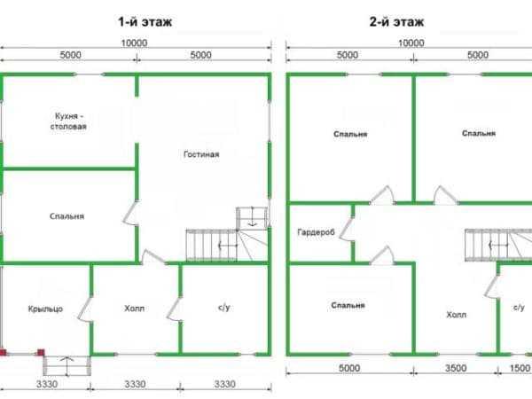 Проекты домов на 2 семьи с разными входами (96 фото): планировка на две семьи с отдельными входами, двухквартирный вариант, экономия при постройке на двух хозяев