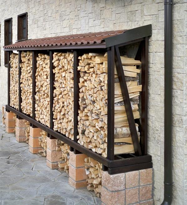 Способы укладки дров на участке: как сложить поленницу своими руками?