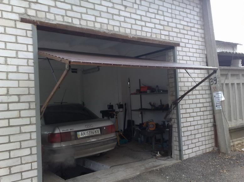 подъемно поворотные ворота для гаража