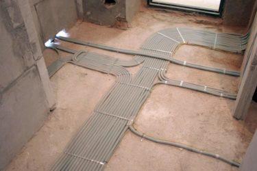 Электропроводка в полу - монтаж электропроводки в стяжке пола