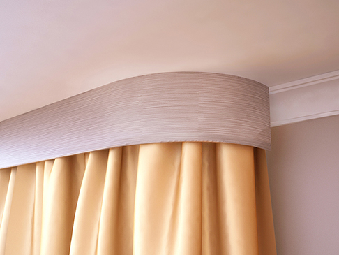 Как выбрать карниз для штор, в том числе потолочный, как подобрать цвет, длину + фото