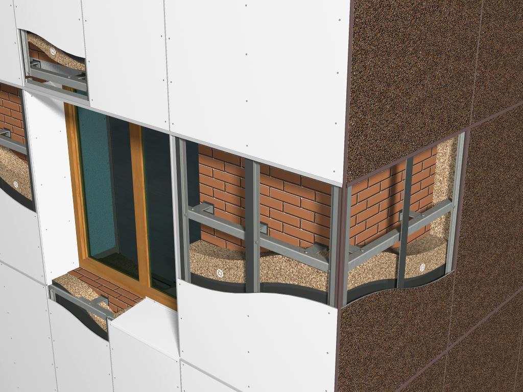вентиляционный фасад