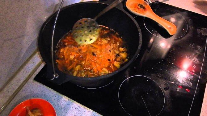 Плов в казане – кулинарный рецепт