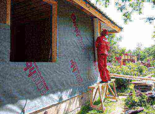 Ветрозащита стен, крыши, пола каркасного дома