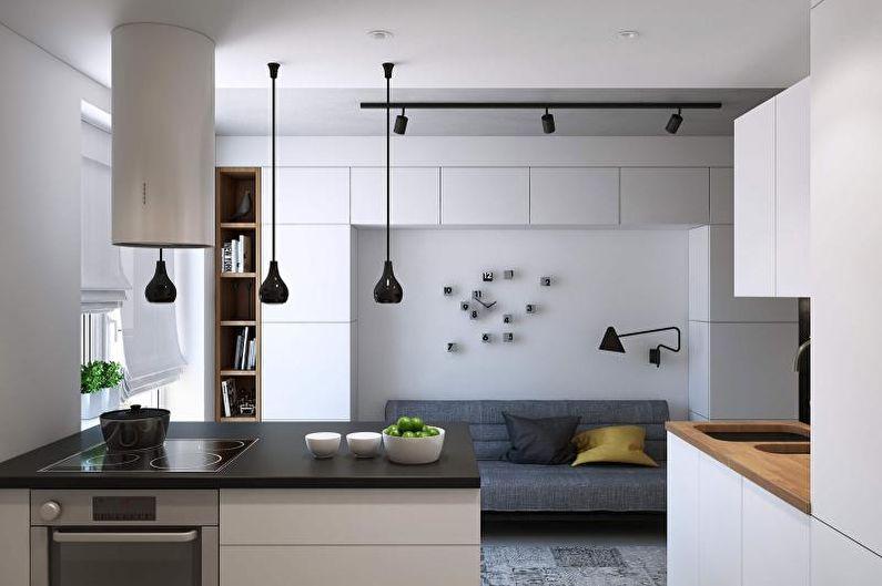 планировка кухни 14 кв м