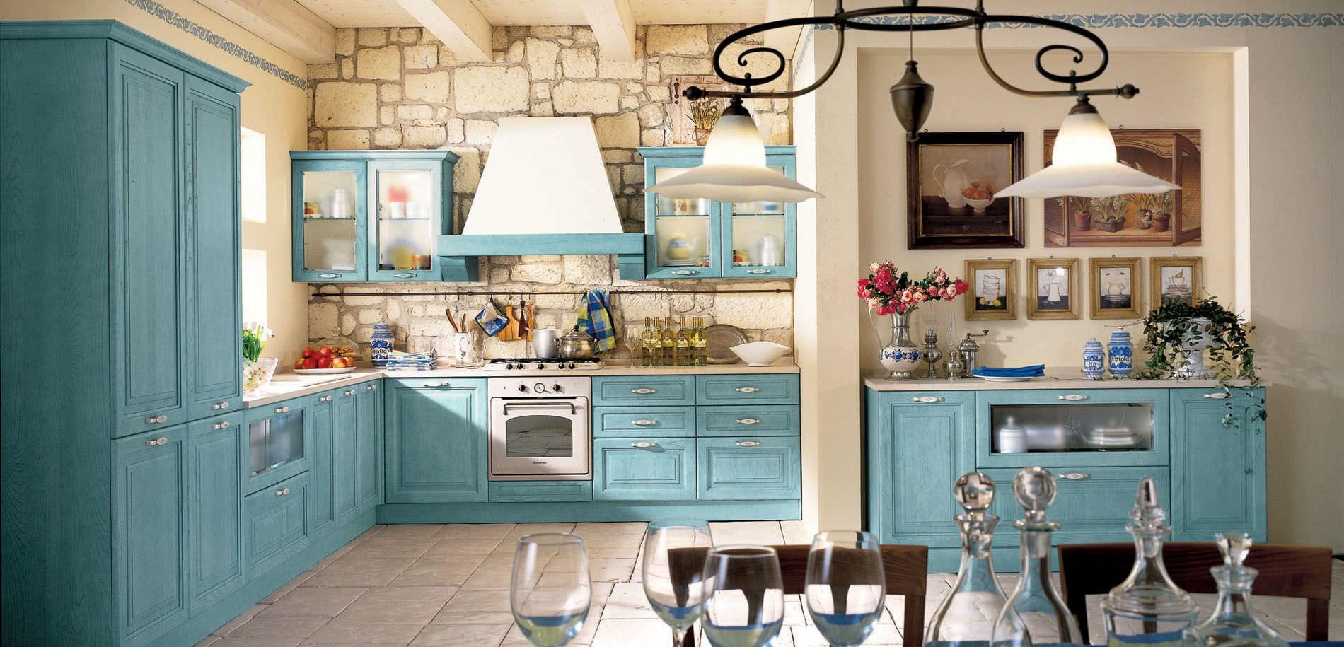 Маленькая кухня в стиле прованс - 40 шикарных фото