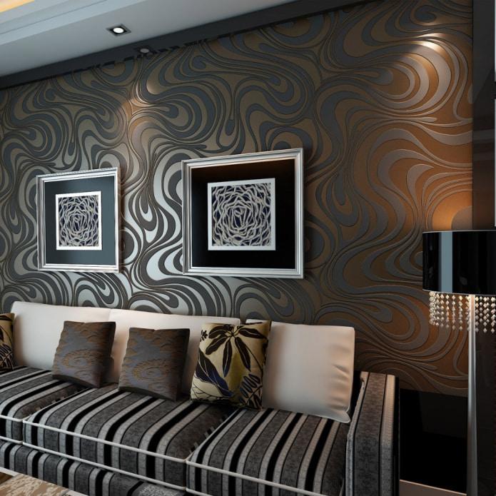 Коричневая мебель в интерьере, какие обои подойдут к коричневой мебели, какой цвет стен выбрать