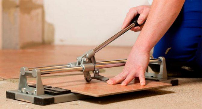 Как резать плиткорезом ручным - всё о керамической плитке